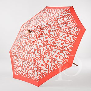 The Emberglow Patio Umbrella With Itsu0027 Sophisticated Orange And White  Pattern Would Be A Perfect Compliment With White Or Dark Patio Furniture~