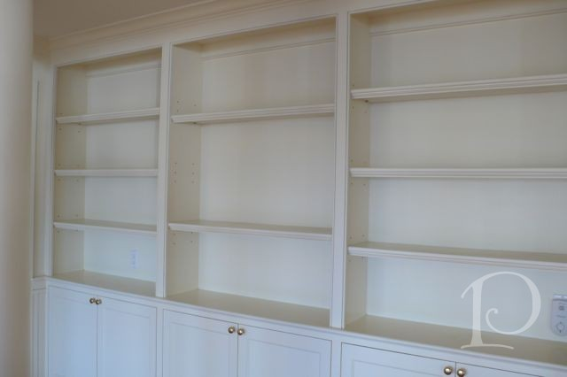 wall of white built ins