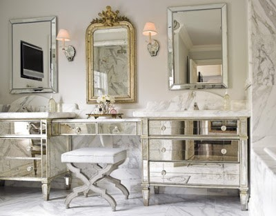 antique-mirrored-furniture - Pamela Copeman » Pamela's Posh Picks: Dressing Tables