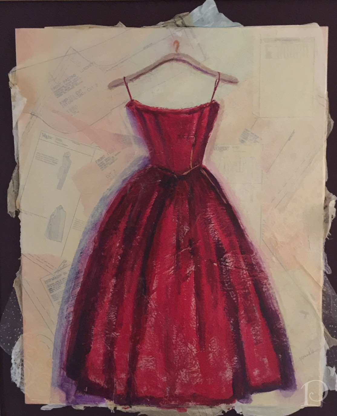 Red gown by Pamela Copeman