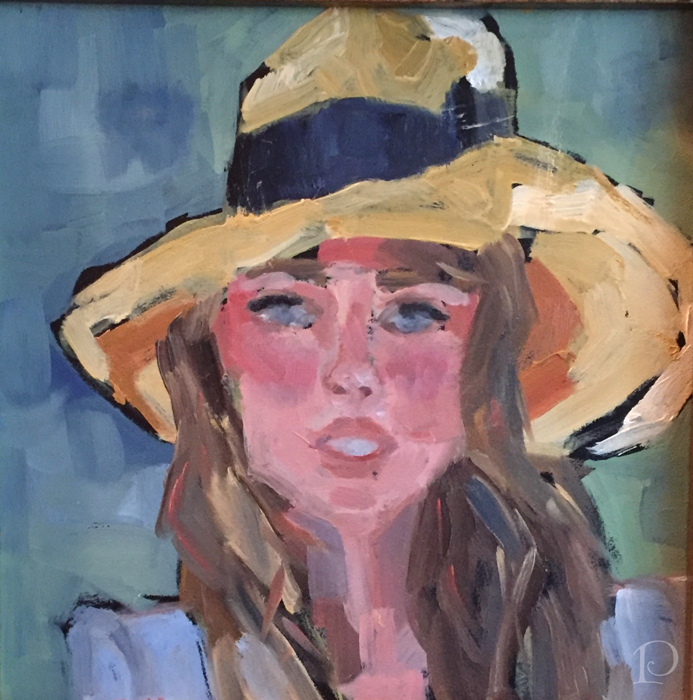 Beach Girl with Straw Hat by Pamela Copeman