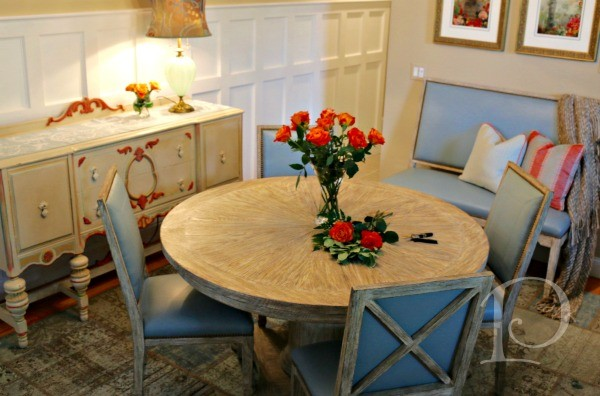 Dining Room overview Cape Cod condo by Pamela Copeman Design