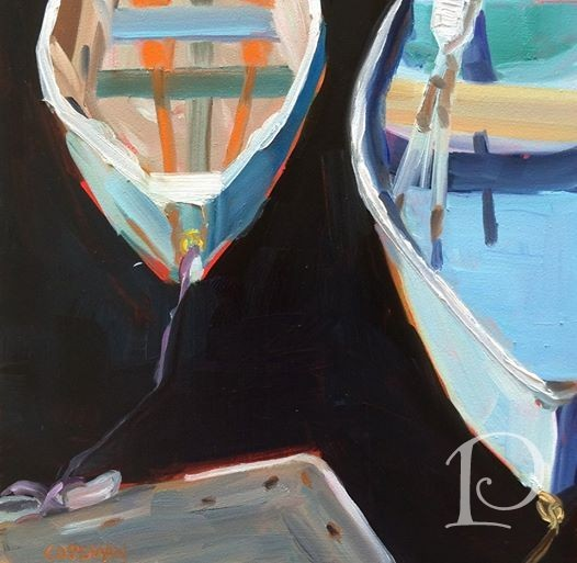 Colorful Row Boats by Pamela Copeman Art