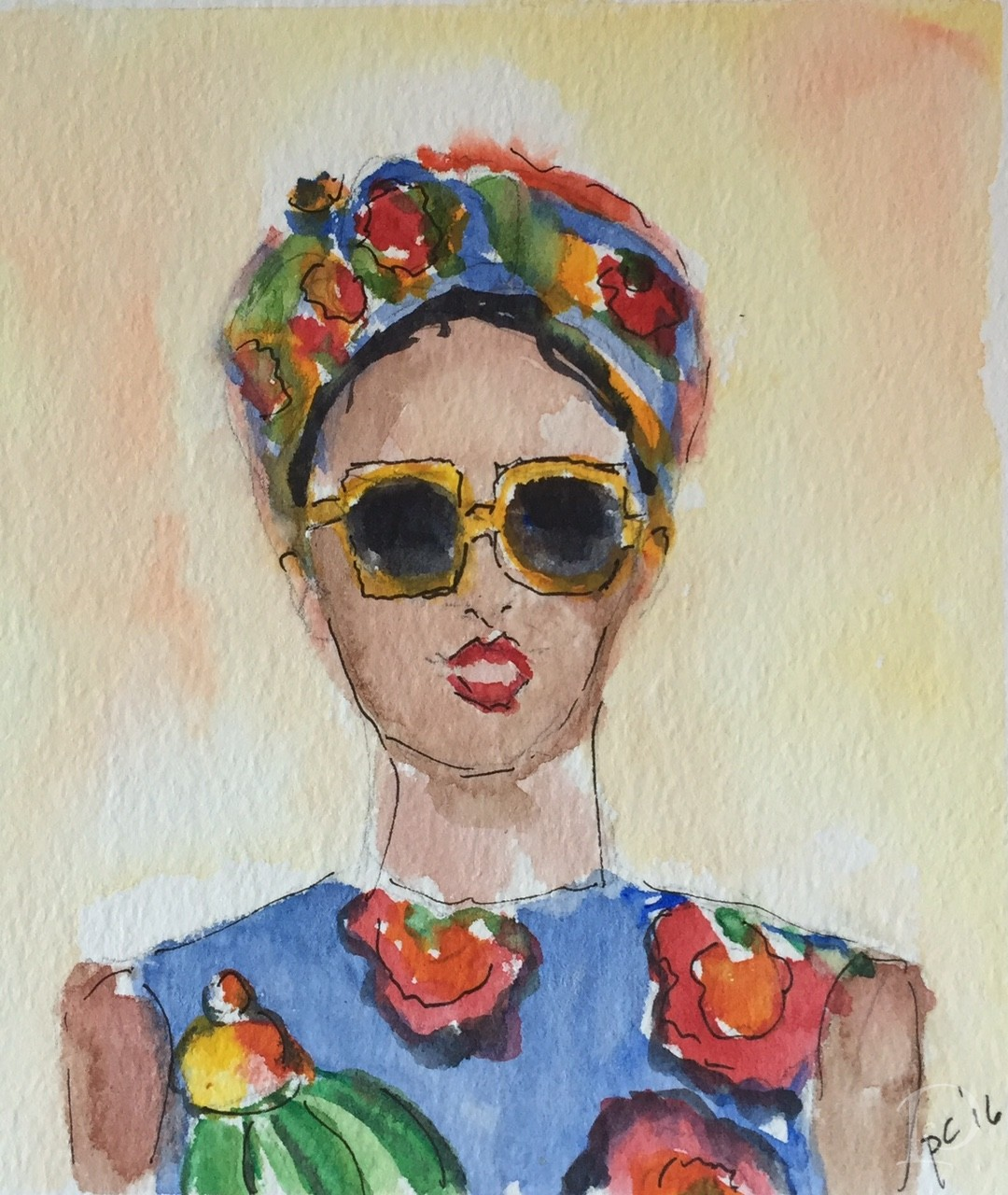Dolce watercolor by Pamela Copeman