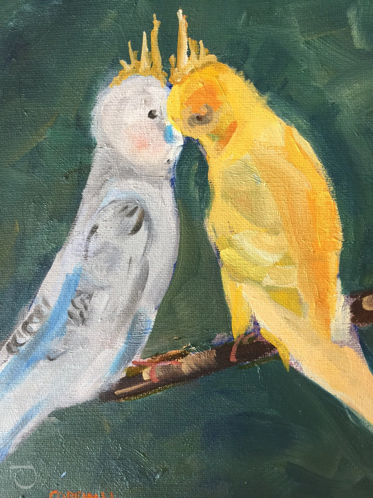 lovebirds-by-pamela-copeman-art