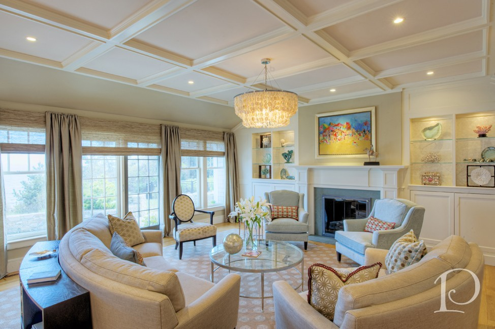 Pamela Copeman Design Cape Cod luxury living room