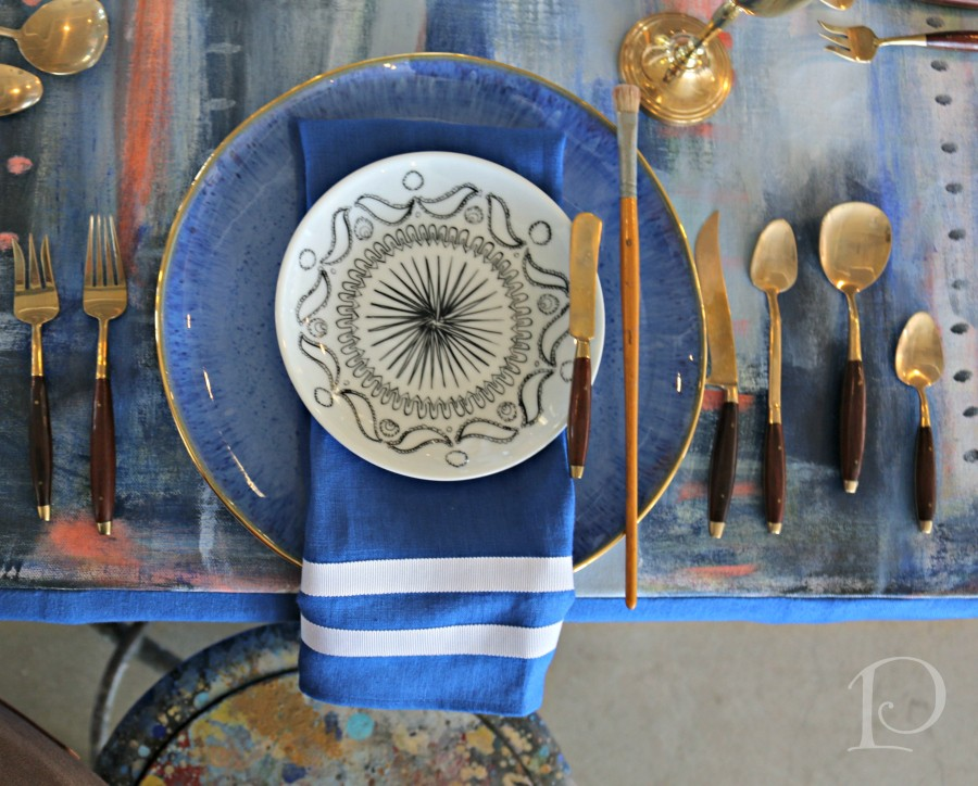 Heading Home To Dinner tablescape by Megan Pesce
