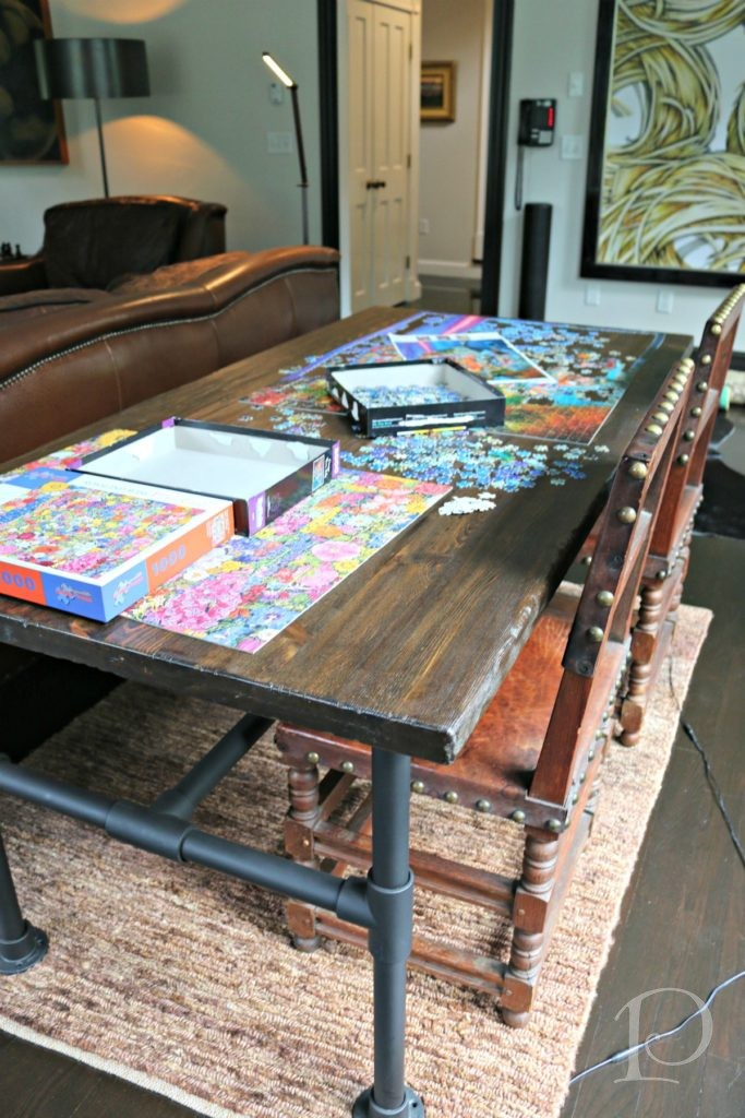 puzzle table family room