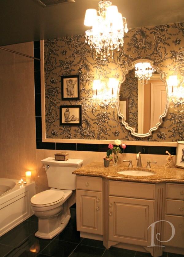 Pamela Copeman 187 Taupe Beige Amp Black Guest Bath Transformation
